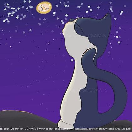 Evening Cat Print