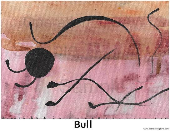 Abstract Bull Print