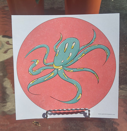 Fantasy Octopus Print