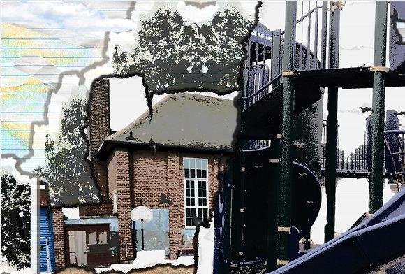 Collaged Playground Print