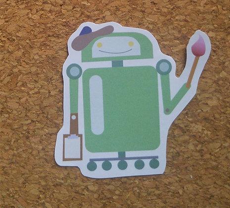 Artsy Robot Sticker