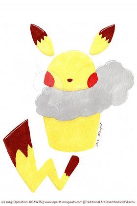 Cloud Pikachu Print