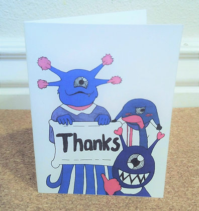 Monster Thank You Card