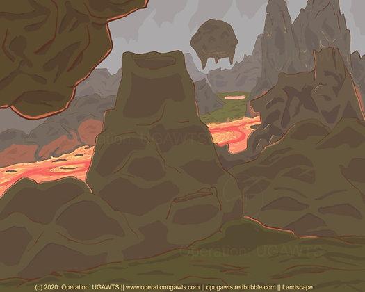 Volcanic Landscape Print