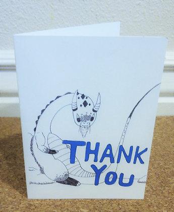 Thank You Dragon Greeting Card