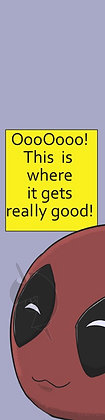 Chibi Deadpool Bookmark