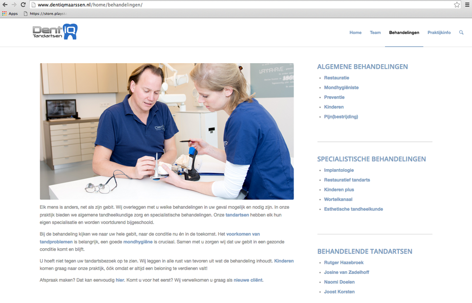 Dentiq website fotografie