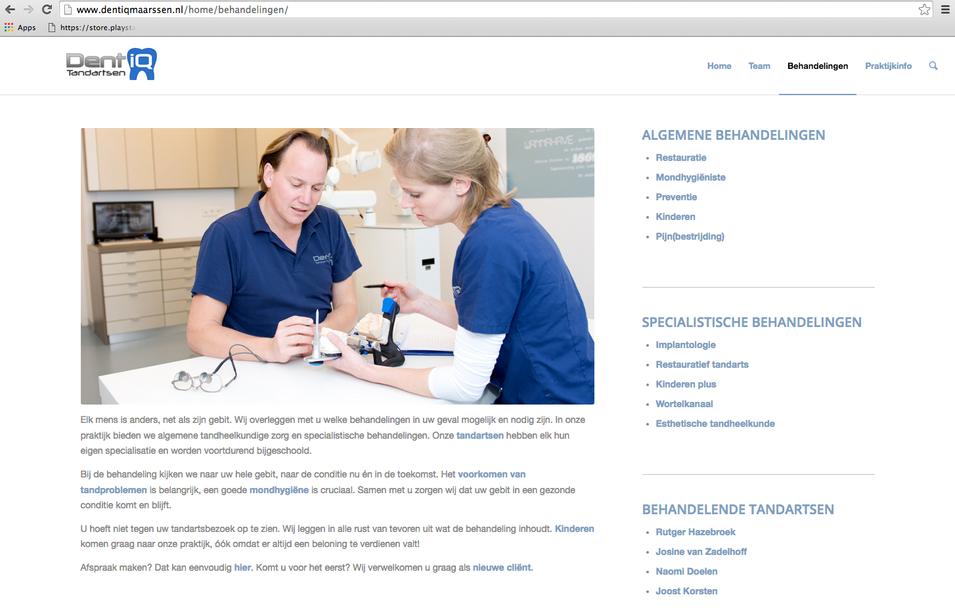 Dentiq website fotografie