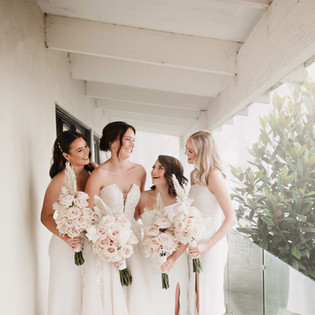 Happy Bridal Party before the wedding