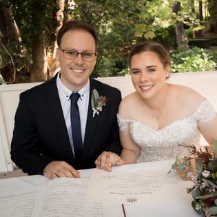 Newlywed Marybrooke Manor Bridal Couple