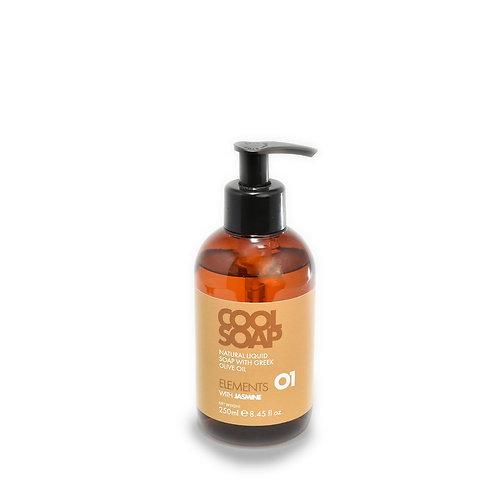 Olive oil liquid soap with jasmine