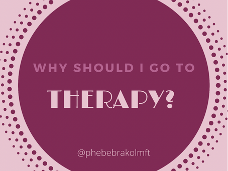 Why should I go to therapy?