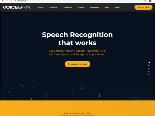 VoiceGain.ai website officially launched