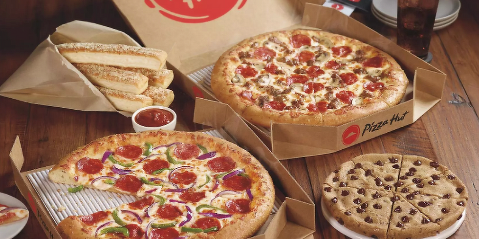Pizza Hut's for Dinner! - Monday, February 10th