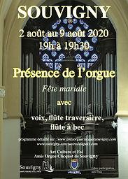 Affiche Présence de l'orgue août 2020 -