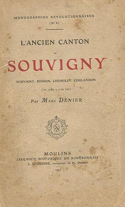 L'ancien canton de Souvigny, par Marc Dénier.