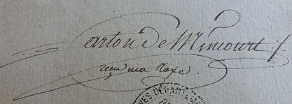 Carton de Mincourt, organiste