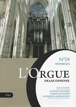 Revue e la FFAO, n° 54, décembe 2016