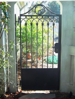 G39 - European Styled Hand Hammered Walk Gate.JPG