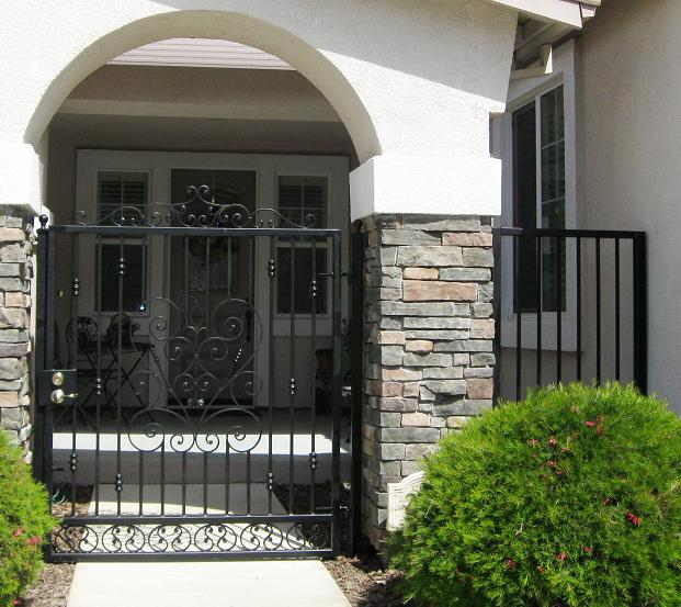 G14 - Scrolled walk gate with top crest and side fence.jpg