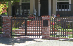 G7 - Walk gate with large sized pickets to match wood fence.jpg