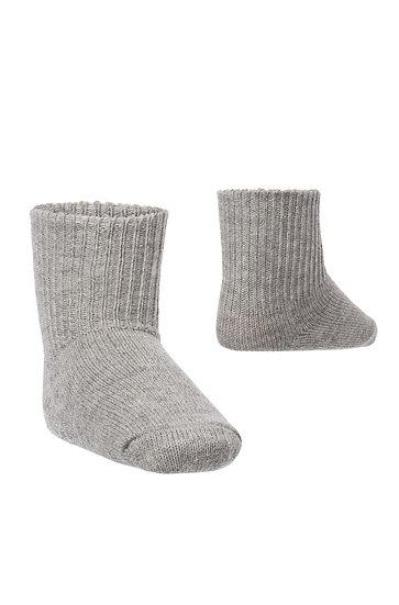 Kinder Baby- Alpaka Socken, grau (Einzelpaar)
