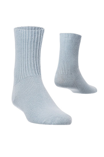 Kinder Baby- Alpaka Socken, blau (Einzelpaar)