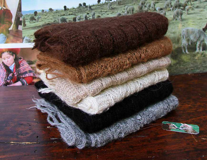 Schal aus Alpakawolle
