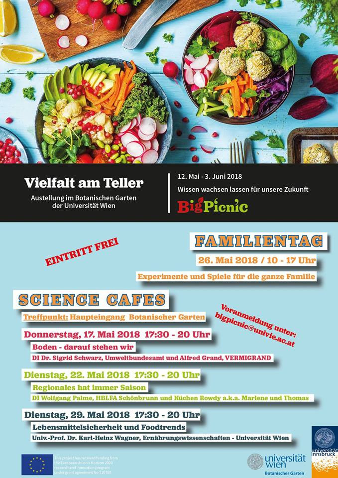 "Küchen Rowdy als Speaker beim EU Projekt ""Big Picnic - Big Questions on Food Security"" im"