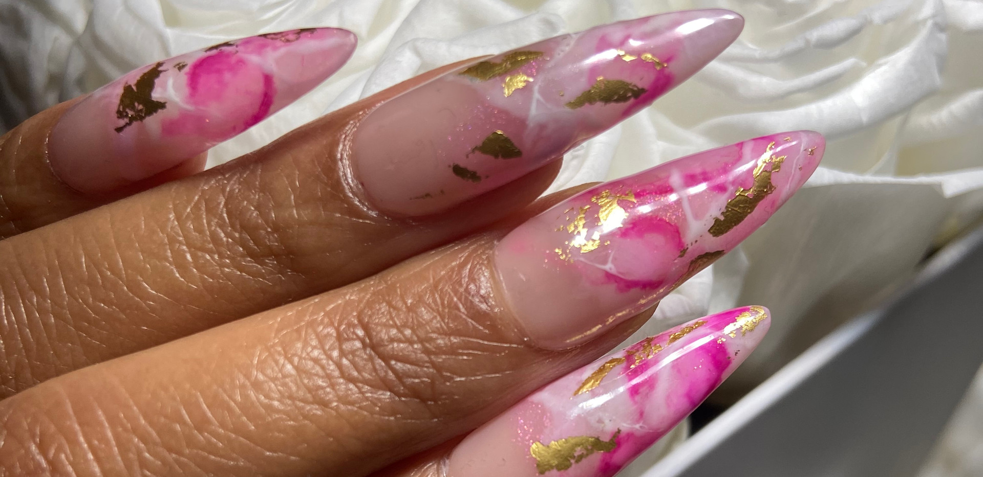 Shades of Pink Marble