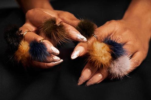 Mink Fur Rings