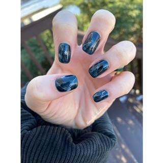 Earthy Granite Nail Art