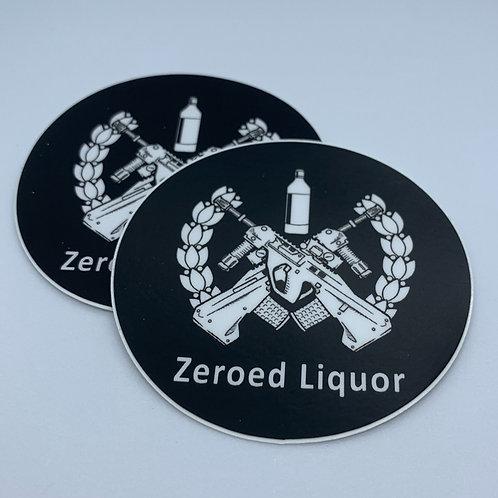 Zeroed Liquor Sticker