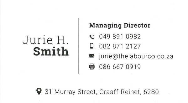 JURIE SMITH - BUSINESS CARD - WHATSAPP I