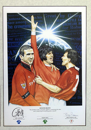 Seventh Heaven - Signed Manchester United Print.