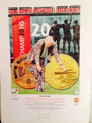 Milestone - Manchester United's 20th title print.