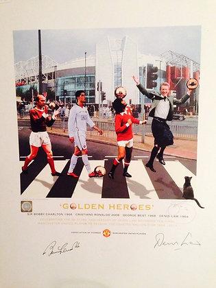GOLDEN HEROES - Man United's Ballon D'or winners.