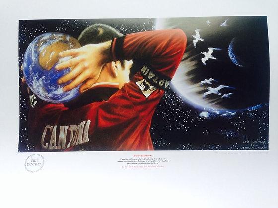 PHENOMENON - Eric Cantona Lithograph