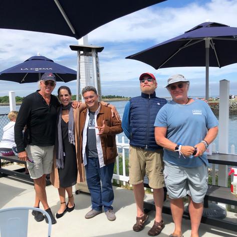 Meeting on Cape Cod at Fisherman's View June 30th 2020: Kurt, Rosa Salazer Arenas, Kevin Lasit, David Kirkpatrick, Jeff Arch
