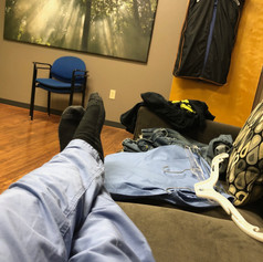 Kicking it in my dressing room - Braun commercial
