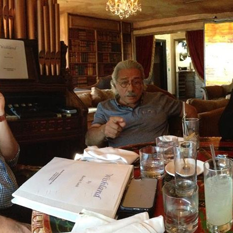 Story meeting at the Petit Ermitage Hotel in West Hollywood, CA. Topic...Wishland