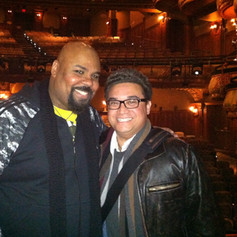 Our Bay Area friend, James Monroe Iglehart - Aladdin. James gives me inspiration and is a force on stage
