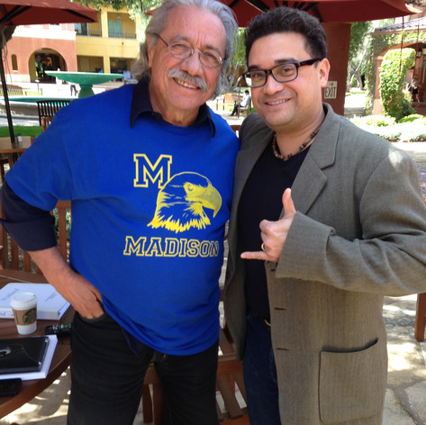 Spending the day with Mr. Olmos at DreamWorks