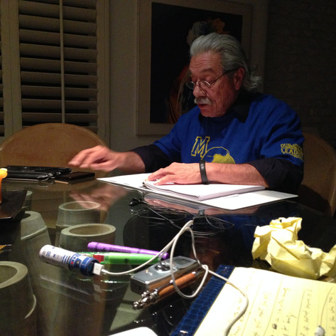Read through of my screenplay with Edward James Olmos. Reading was at his house