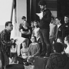 Directing young actors at Sandwich High School