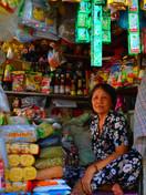 Woman in little shop