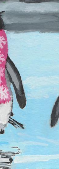 Penguins Wearing Scarves