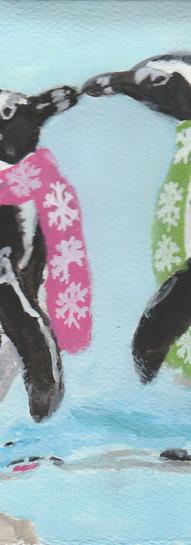 Penguins Wearing Scarves 2