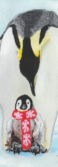 Penguins Wearing Scarves 3