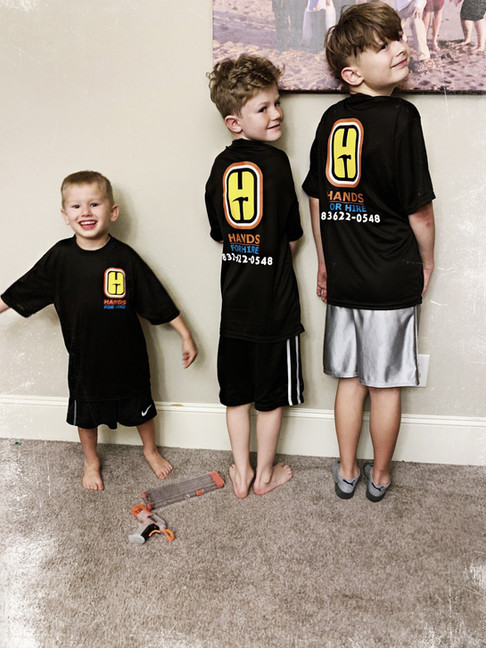 Tyler age 5, Kayden, age 10 and Bryson age 12